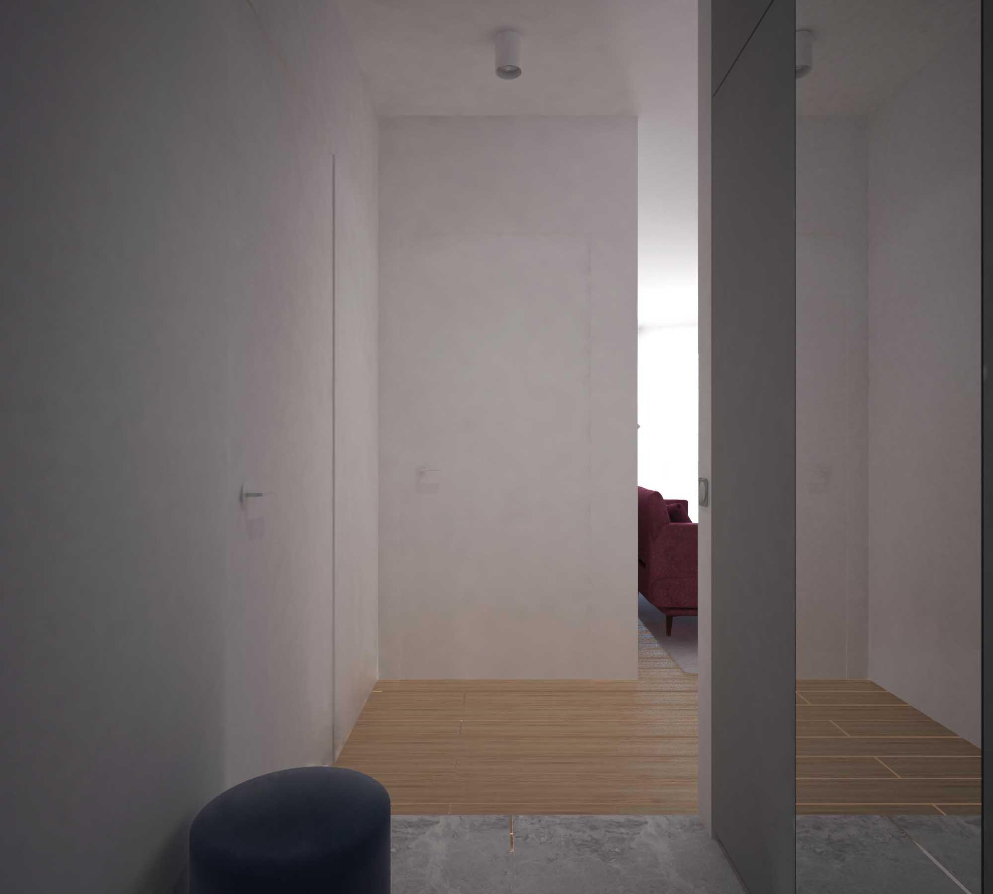Nowoczesny minimalistyczny korytarz